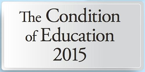 "Screen shot of the cover page of the document ""The Condition of Education 2015"""