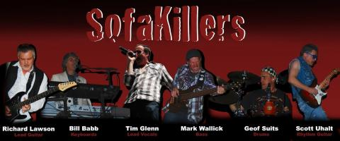 Words SofaKillers with 6 band members below