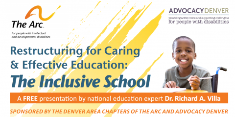 Restructuring for Caring & Effective Education: The Inclusive School flyer heading