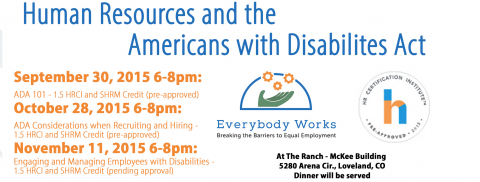 Everybody Works and Human Resources and the ADA flyer