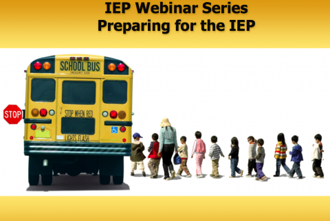 Line of kids boarding a school bus- IEP Webinar Series Preparing for the IEP