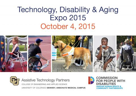 Technology, Disability and Aging Expo 2015 flyer