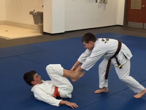 Photo of people practicing Taekwondo