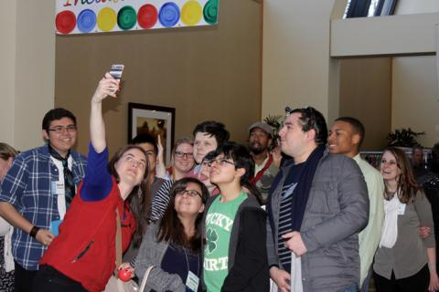 Photo of Youth at PEAK's 2016 Conference Taking a Selfie