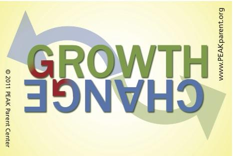 "Graphic that has the words ""Growth"" and ""Change"" with arrows going in both directions."