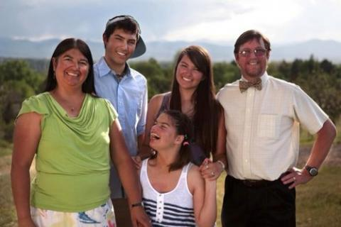 Photo of Irene Aguilar with her family