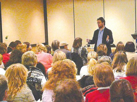Photo of Jonathan Mooney presenting a PEAK workshop!