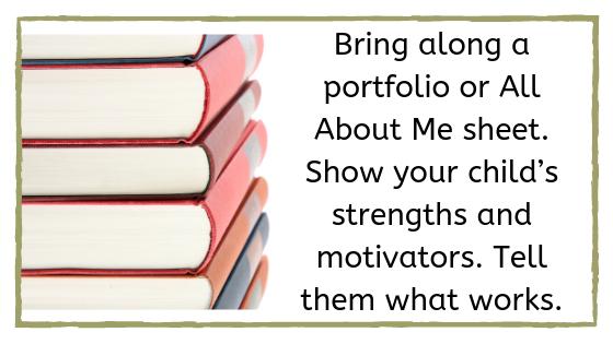 Bring along a portfolio photo