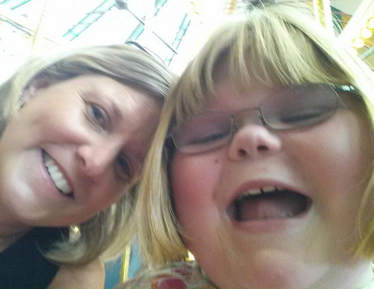 Photo of PEAK Parent Advisor Missy Sieders with her daughter