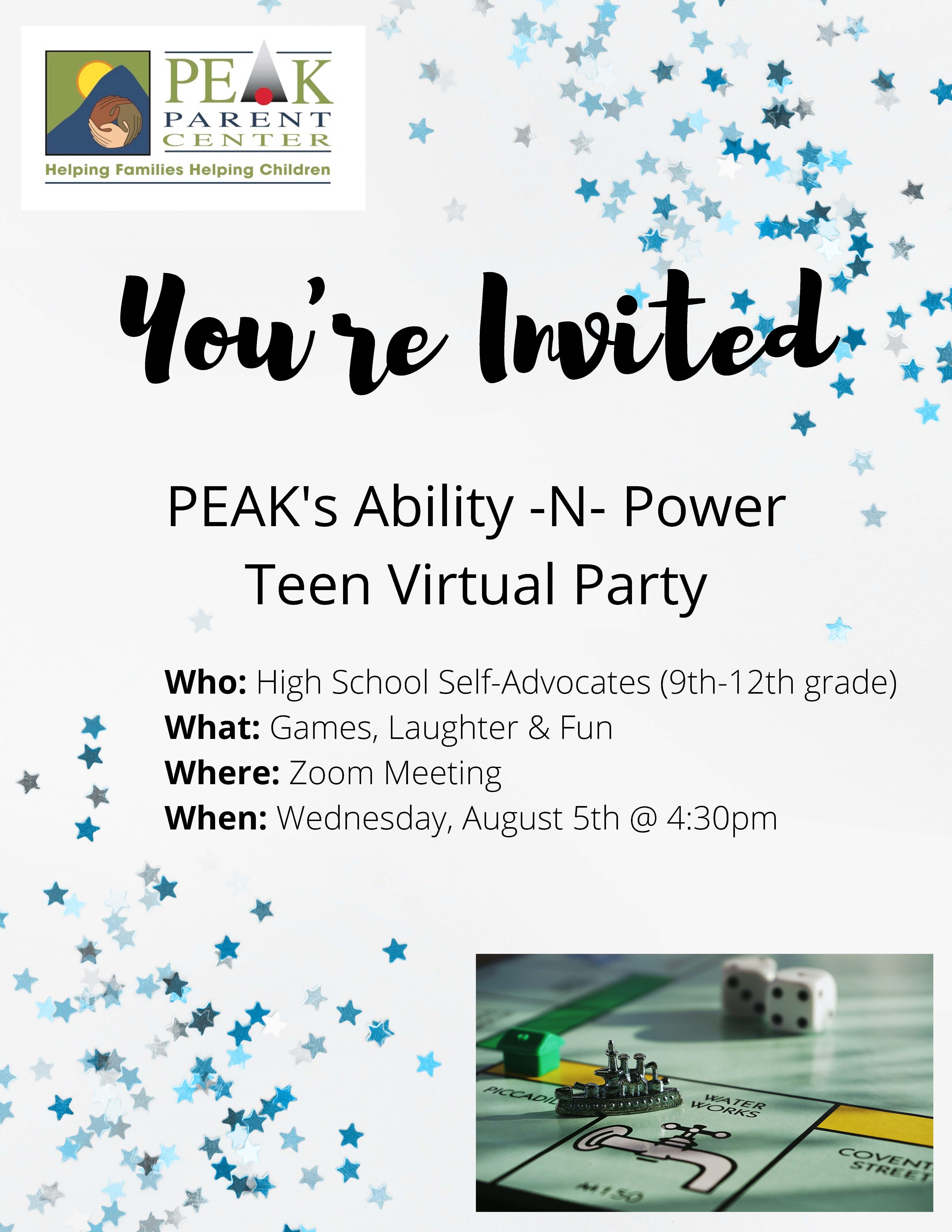 Teen Virtual flyer
