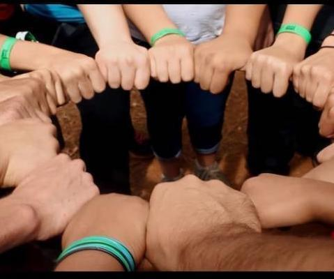 Youth Hands in a Circle