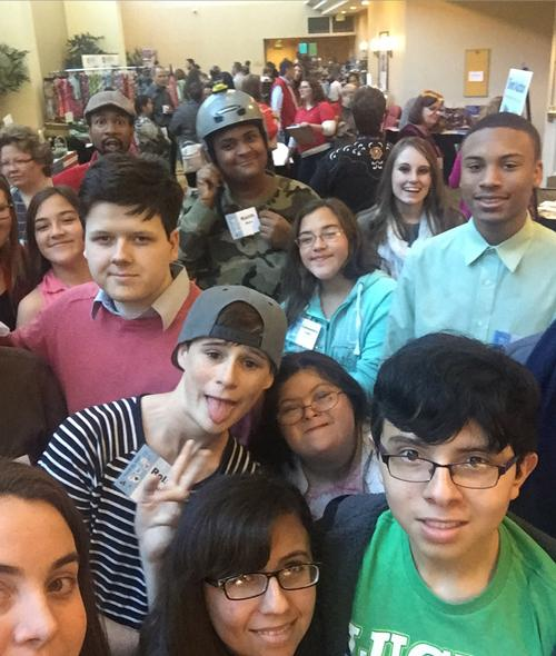 Photo of Youth Participants at the 2016 Youth Leadership Strand at PEAK' annual conference