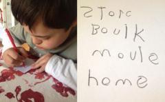 Photo of Noah Writing