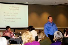 Photo of Rich Villa presenting at PEAK's 2015 Conference on Inclusive Education