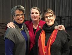 Photo of parent leaders Debra Jennings, Sue Swenson, and Barbara Buswell