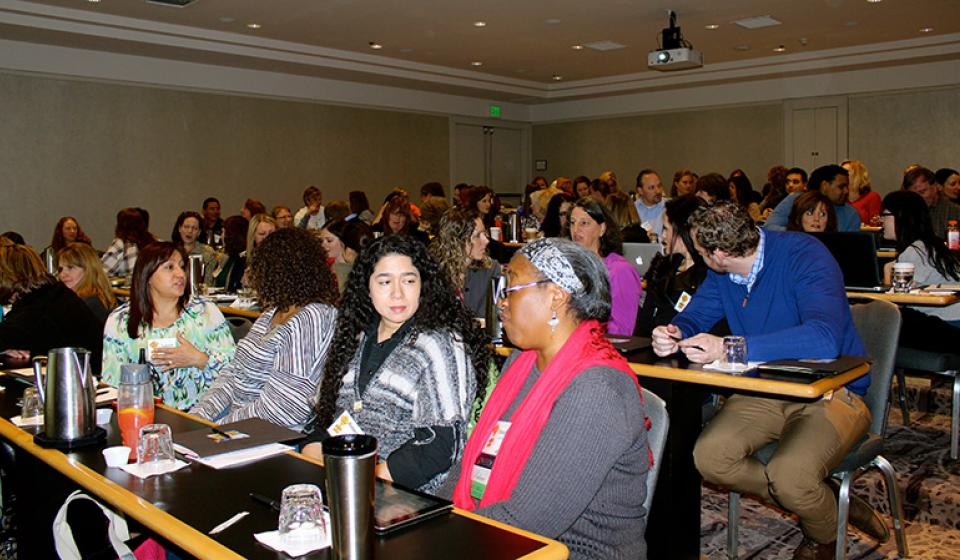 Photo of participants in a breakout session at PEAK's annual conference!