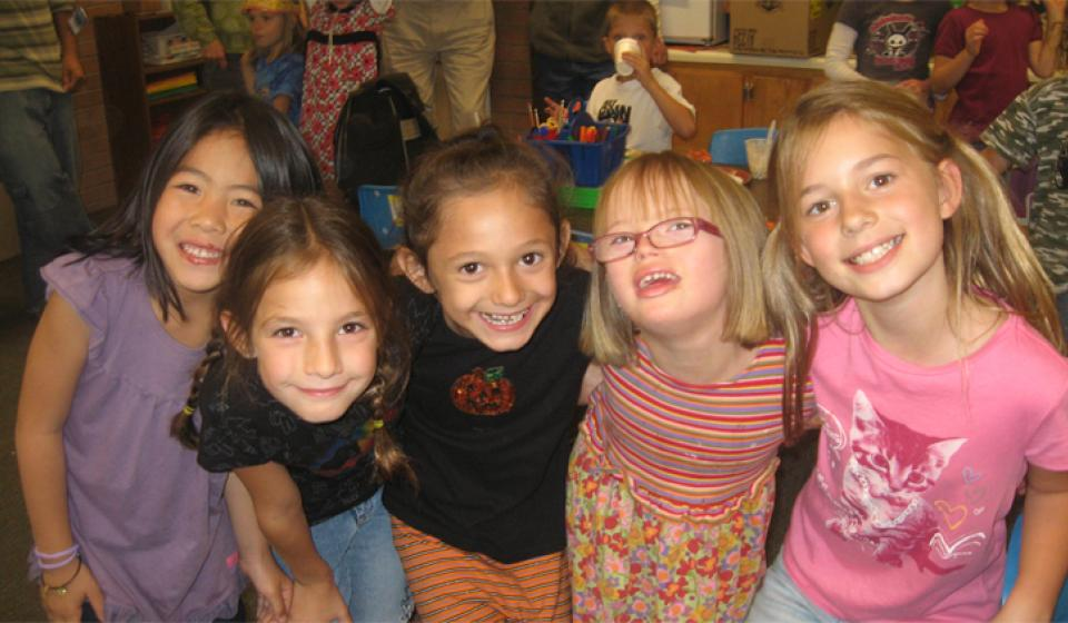 Photo of Diverse Students in an Inclusive Elementary School