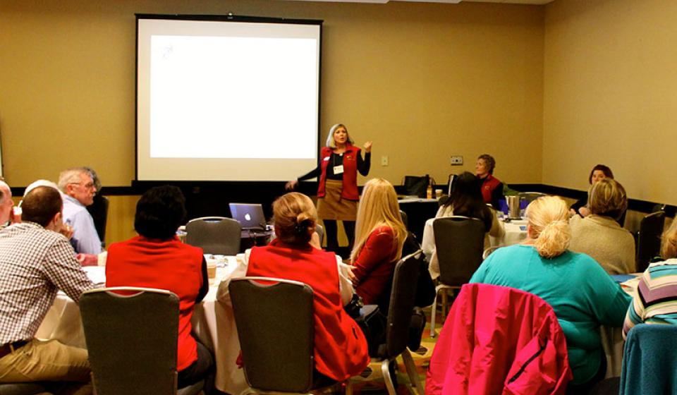Photo of PEAK Parent Advisors presenting a workshop on the IEP process!